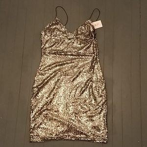 Club London Sparkle Mini Dress